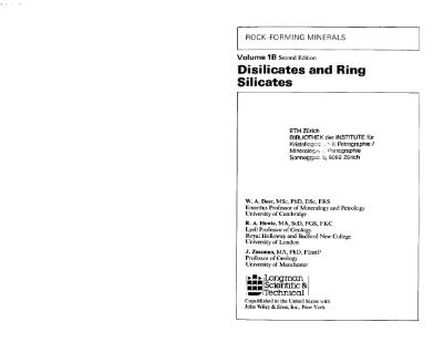 Файл:Book rock forming minerals disilicates and ring volume1b zussmann howie deere geological society 2nd edition.djvu